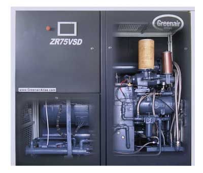 ZR75VSD Series Oil-free Screw Air Compressor